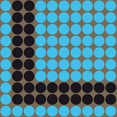 10x10blackblue3d Poster