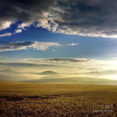 Agricultural Landscape. Auvergne. France. Poster
