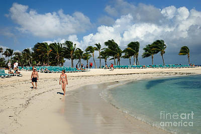 Beach At Coco Cay Poster by Amy Cicconi