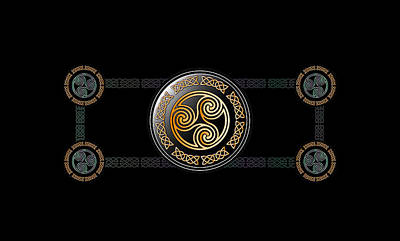 Celtic Triskele Poster by Ireland Calling