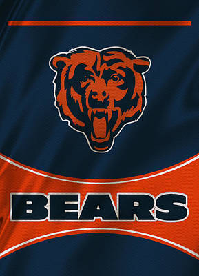 Chicago Bears Uniform Poster by Joe Hamilton