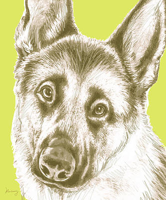 Dog Stylised Pop Modern Art Drawing Sketch Portrait Poster