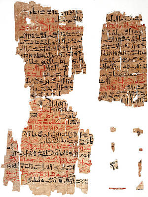 Edwin Smith Papyrus Poster by National Library Of Medicine