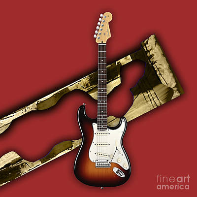 Fender Stratocaster Collection Poster by Marvin Blaine