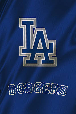 Los Angeles Dodgers Uniform Poster by Joe Hamilton
