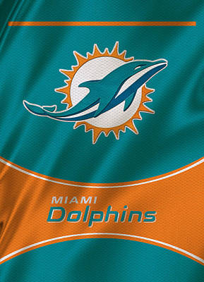 Miami Dolphins Uniform Poster by Joe Hamilton