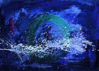 Poster featuring the painting White Splash by Tracey Myers