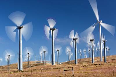 Part Of The Tehachapi Pass Wind Farm Poster