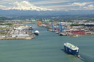Port Of Tacoma, Tacoma Poster by Andrew Buchanan/SLP