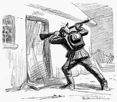 World War I Cartoon, 1914 Poster