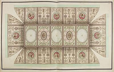 Antique Grotesque Ceilings Poster by British Library