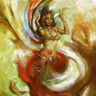 Abstract Belly Dancer 15 Poster by Corporate Art Task Force