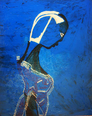 Dinka Bride - South Sudan Poster by Gloria Ssali
