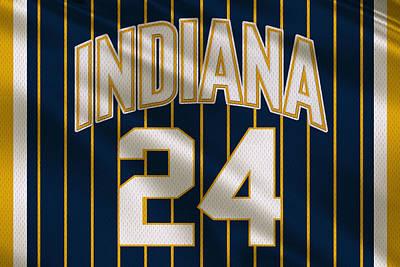 Indiana Pacers Uniform Poster by Joe Hamilton