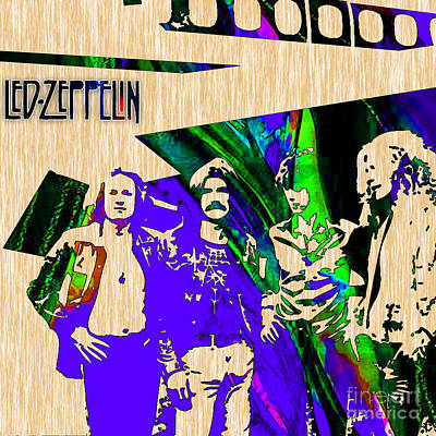 Led Zeppelin Poster by Marvin Blaine