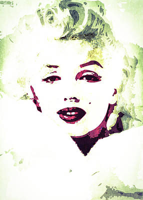 Marilyn Monroe Poster by Svelby Art