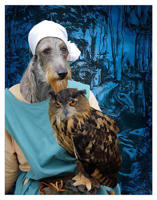Scottish Deerhound Art Canvas Print Poster by Sandra Sij