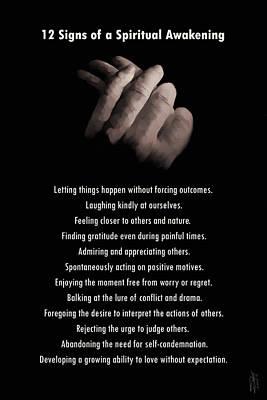 12 Signs Of A Spiritual Awakening Poster by IM Spadecaller