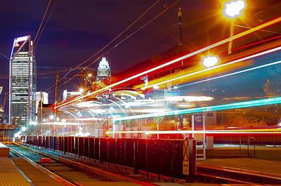 Skyline Of Uptown Charlotte North Carolina At Night Poster by Alex Grichenko