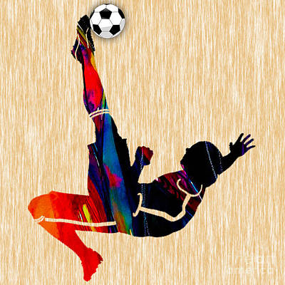 Soccer Poster by Marvin Blaine