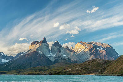 South America, Chile, Patagonia, Torres Poster by Jaynes Gallery