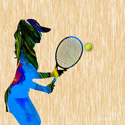 Tennis Poster by Marvin Blaine