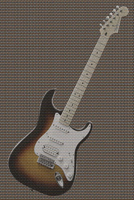 12 Thousand Electric Guitars Poster by Mike McGlothlen