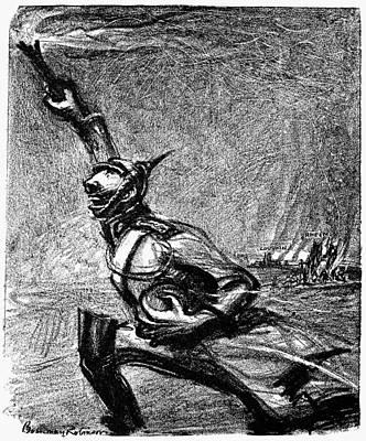 World War I Cartoon, 1915 Poster