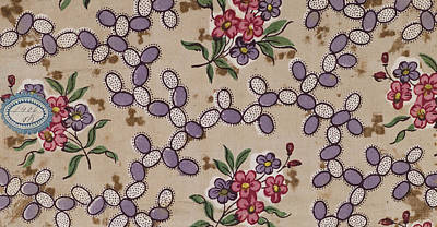 French Fabrics First Half Of The Nineteenth Century 1800 Poster by Litz Collection