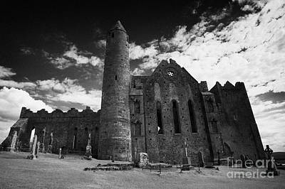 12th Century Round Tower And 13th Century Cathedral Rock Of Cashel Tipperary Ireland Poster by Joe Fox