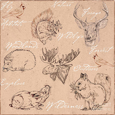 Wildlife Animal Pattern Poster