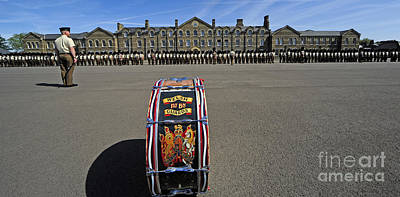1st Battalion Welsh Guards On The Drill Poster by Andrew Chittock