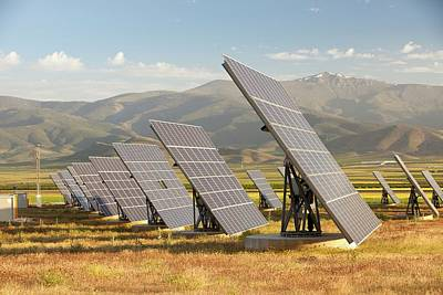 A Photo Voltaic Solar Power Station Poster by Ashley Cooper