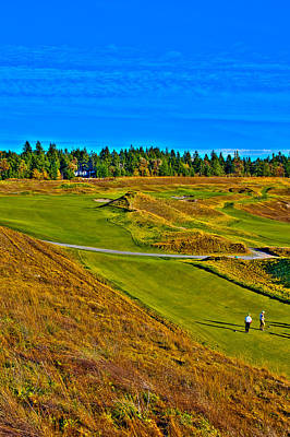 #13 At Chambers Bay Golf Course - Location Of The 2015 U.s. Open Tournament Poster by David Patterson