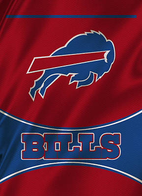 Buffalo Bills Uniform Poster by Joe Hamilton