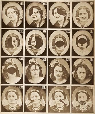 Duchenne's Physiognomy Studies, 1860s Poster