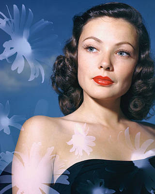 Gene Tierney Poster by Silver Screen