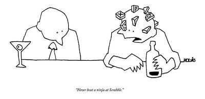 Never Beat A Ninja At Scrabble Poster by Ariel Molvig