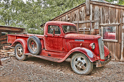 Gold King Mine Rusting Vehicle Poster by Robert Jensen