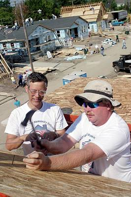 Habitat For Humanity House Building Poster by Jim West