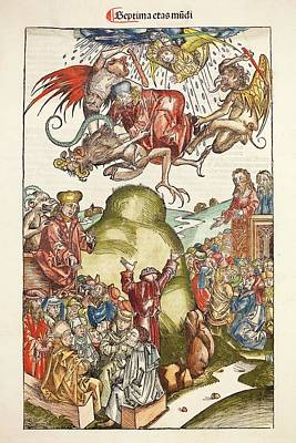 1493 Nuremberg Chronicle Simon The Magus Poster by Paul D Stewart