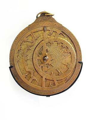14th Century Brass Astrolabe Poster by Chris Hellier