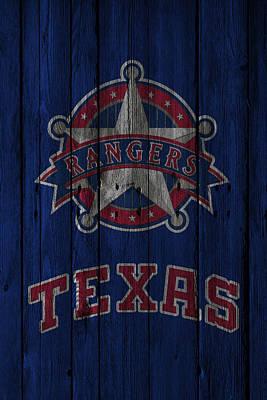 Texas Rangers Poster by Joe Hamilton