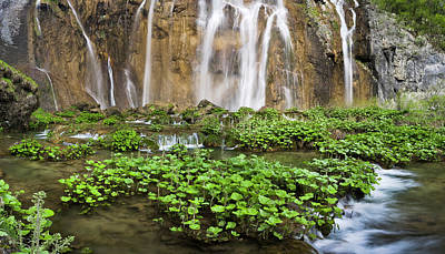 The Plitvice Lakes In The National Park Poster by Martin Zwick