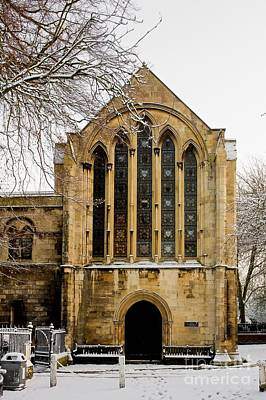 York Minster In Snow Poster by Bailey Cooper