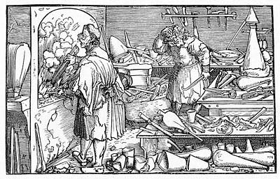 15th Century Alchemist's Laboratory Poster by Cci Archives