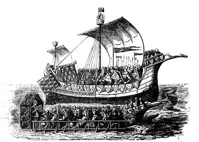 15th Century Ship Poster by Collection Abecasis