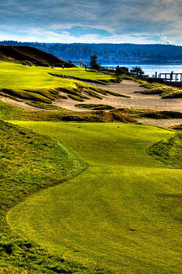 #16 At Chambers Bay Golf Course - Location Of The 2015 U.s. Open Tournament Poster by David Patterson