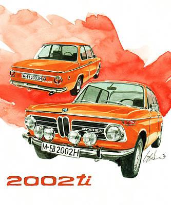 Bmw 2002 Ti Poster by Yoshiharu Miyakawa