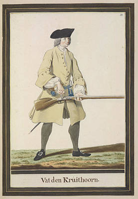 Dutch Military Costurmes And Musket Exerc Poster